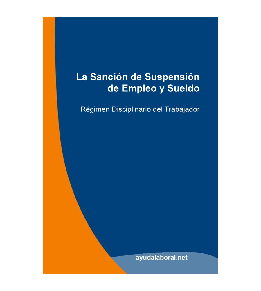 Manual: La sanción de Suspensión de Empleo y Sueldo